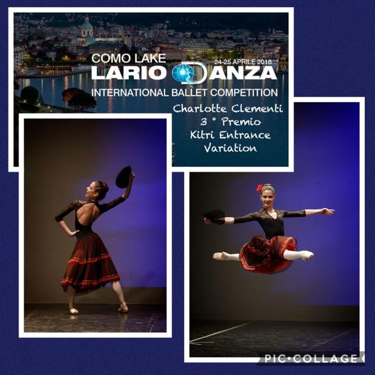 Charlotte Clementi che si esibisce in un passo di danza all'International Ballet Competition