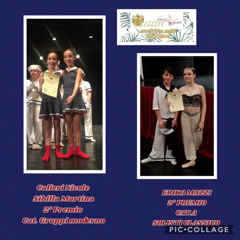 2 premio gruppo moderno - Calieri Nicole e Sibilla Martina | 2 premio cat.A solisti classico - Erika Mazzi