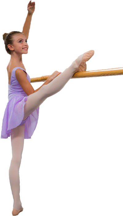 Ballerina di danza classica alla sbarra