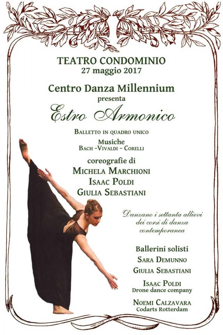 Locandina Estro Armonico con ballerina vestita di nero