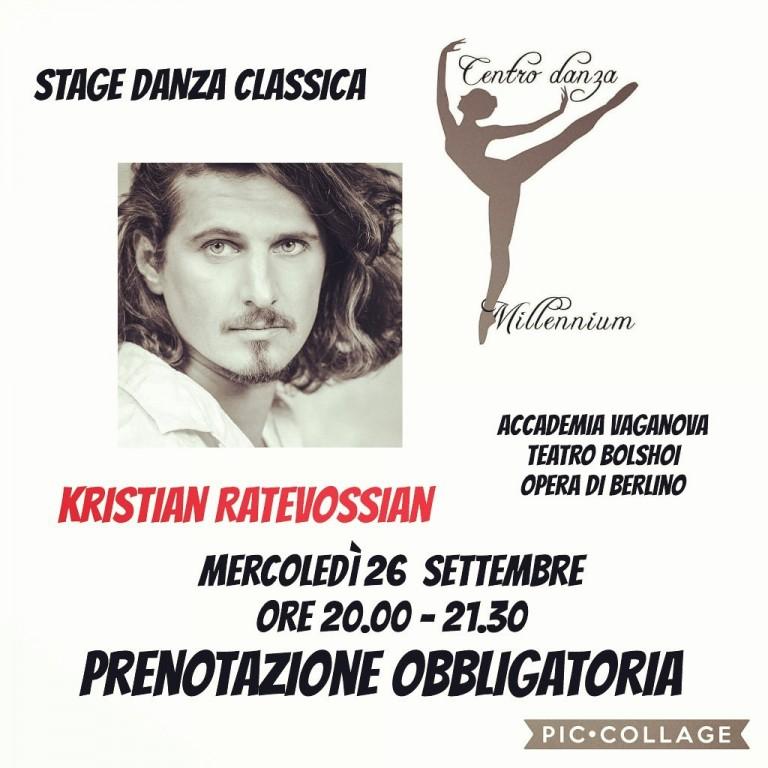 Primo piano del Ballerino Kristian Ratevossian