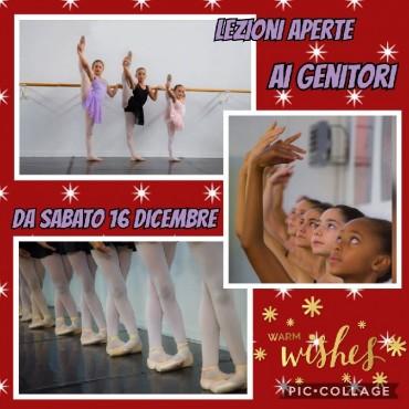 Lezioni di danza: Lezioni aperte dal 16 al 22 Dicembre